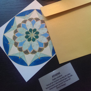 Et enkelt postkort kvadrat